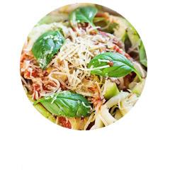 Bezglutenowe spaghetti z cukinii