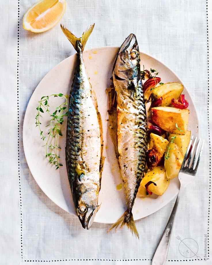 Bezglutenowy obiad makrela pieczona z tymiankiem