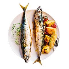 Makrela pieczona z ziemniakami i tymiankiem