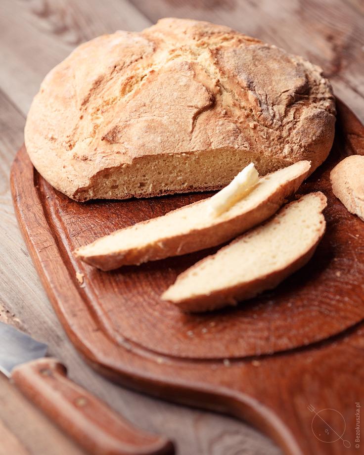 Bezglutenowy chleb bez drożdży na sodzie