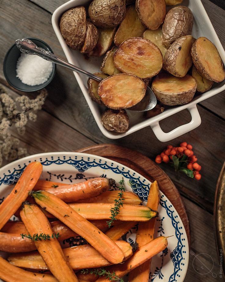 Pieczony kurczak obiad świąteczny bezglutenowy jamie oliver