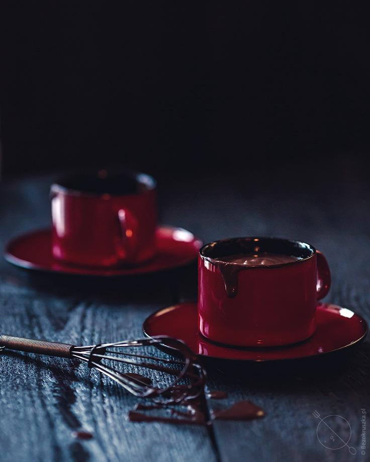 Gęsta gorąca czekolada bezglutenowa
