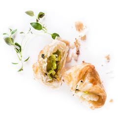 bezglutenowe paczuszki z ciasta francuskiego