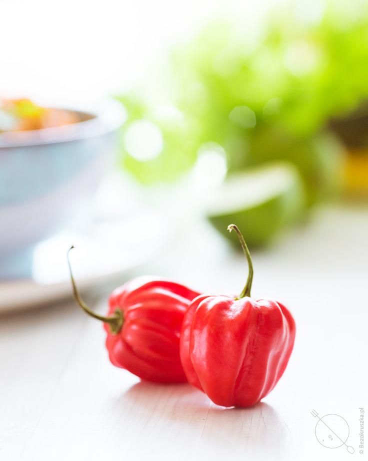 Habanero bardzo ostra chilli