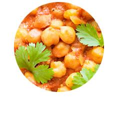 Curry z cieciorką