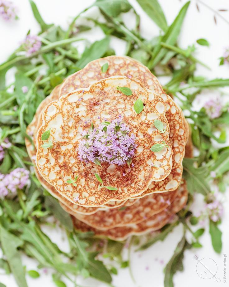 Bezglutenowe pancakesy z maka ryżową i ricottą
