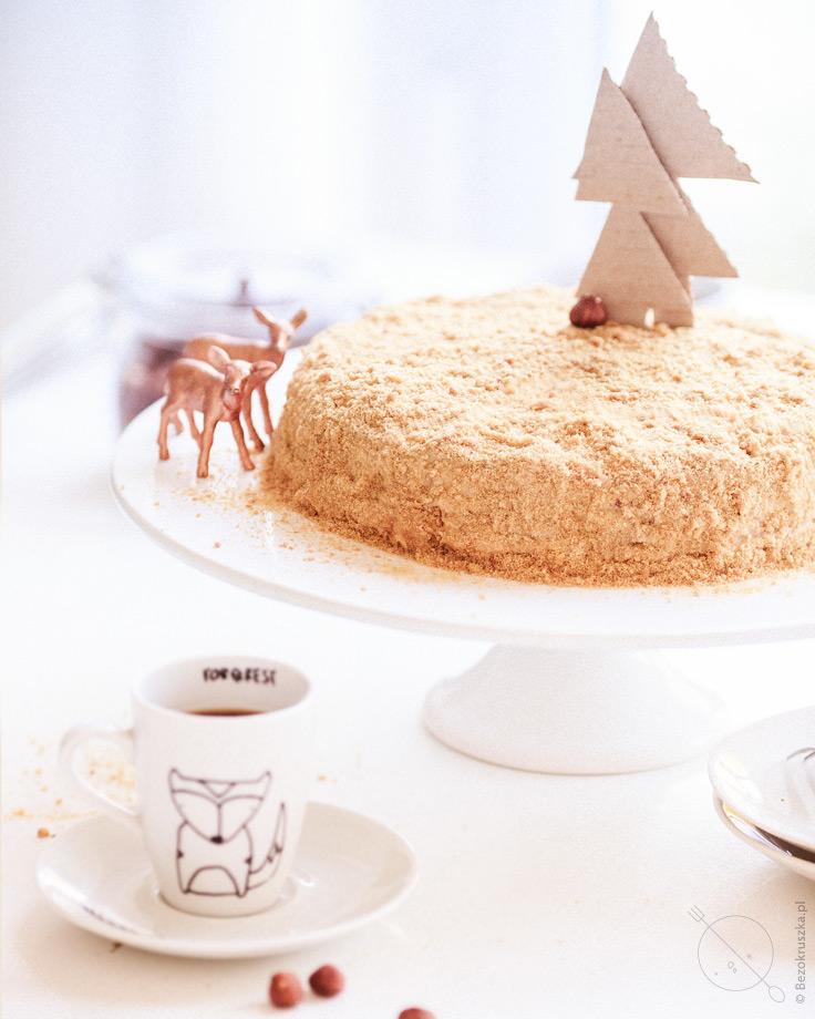 Rosyjski tort czudo w wersji bezglutenowej