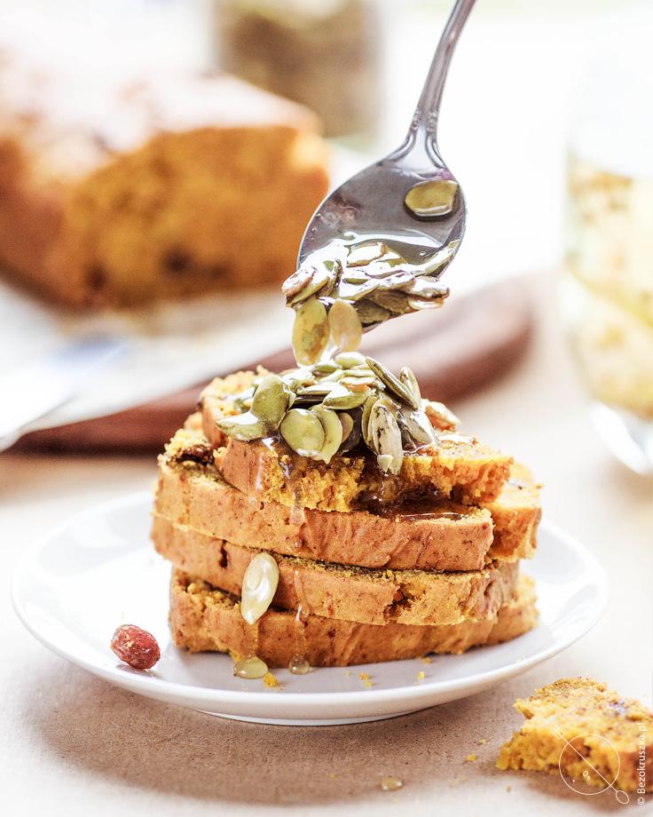 Ciasto bezglutenowe dyniowo-bananowe bez jajek