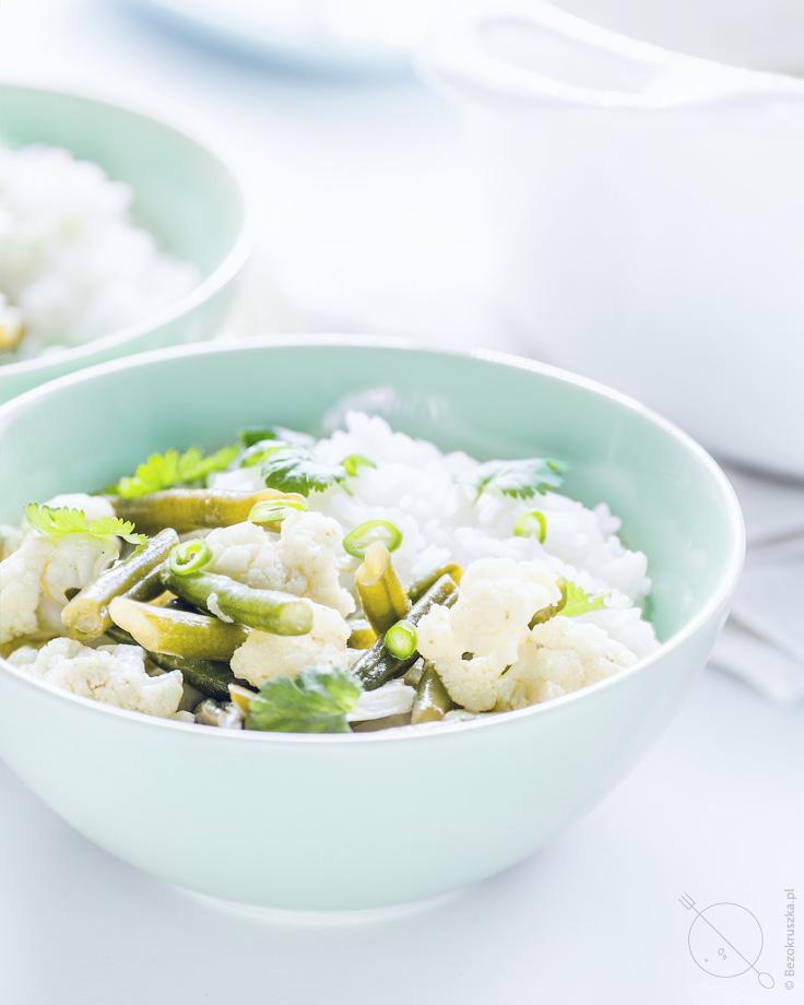 Zielone curry wegetariańskie i bezglutenowe