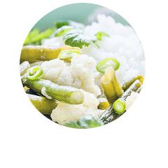 zielone curry z kalafiorem