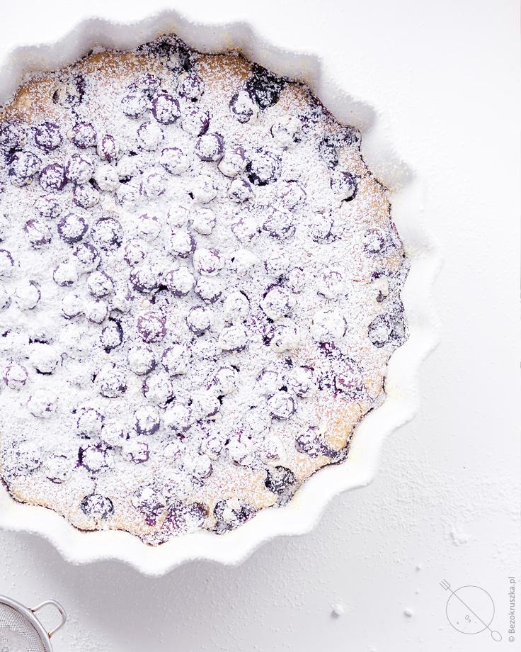 wegańskie ciasto bezglutenowe z borówkami