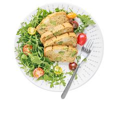 bezglutenowa zapiekanka z maka z ciecierzycy brokulem i kalafiorem wegańska