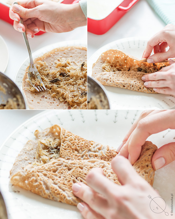 bezglutenowe i wegańskie krokiety z kapustą i grzybami bez mleka i jajek dietetyczne
