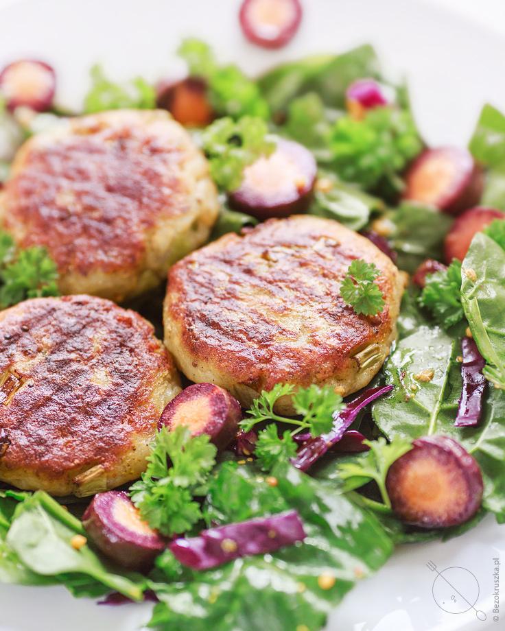 kotleciki ziemniaczane bezglutenowe weganskie bez jajek z ziemniakow