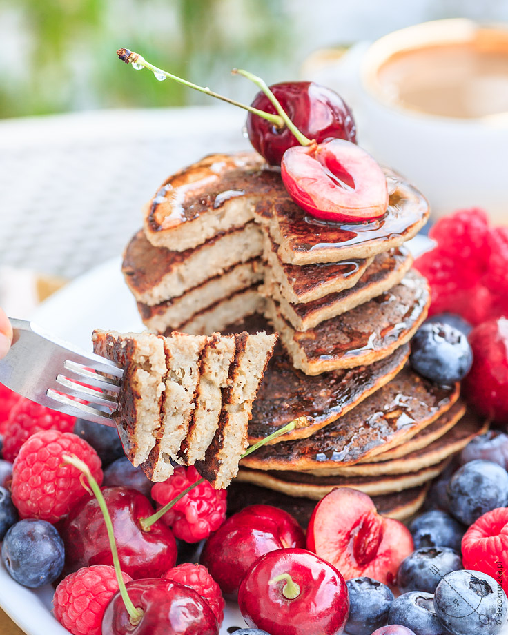 pancakes placuszki bezglutenowe owsiane z bananami fit