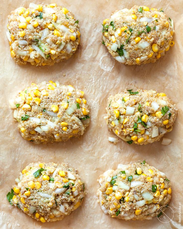 kukurydziane kotlety wegetarianskie z quinoa