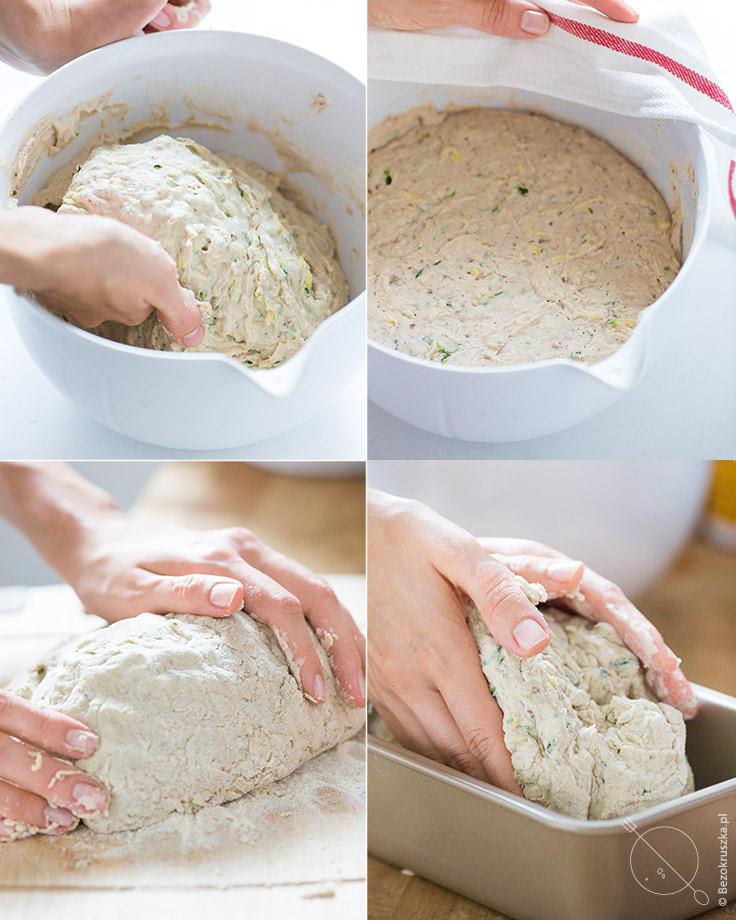 bezglutenowy chleb na drożdżach z cukinią